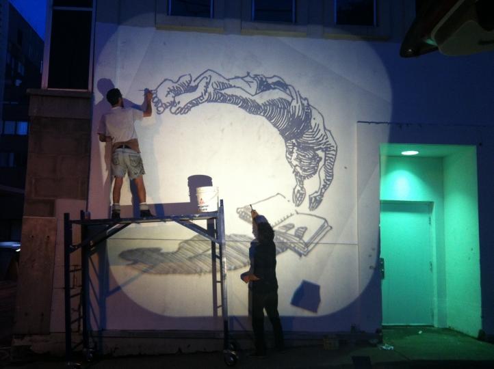 MURS à MOTS – 2014 - B. Rouyère et D. Desbiens – «Making of »