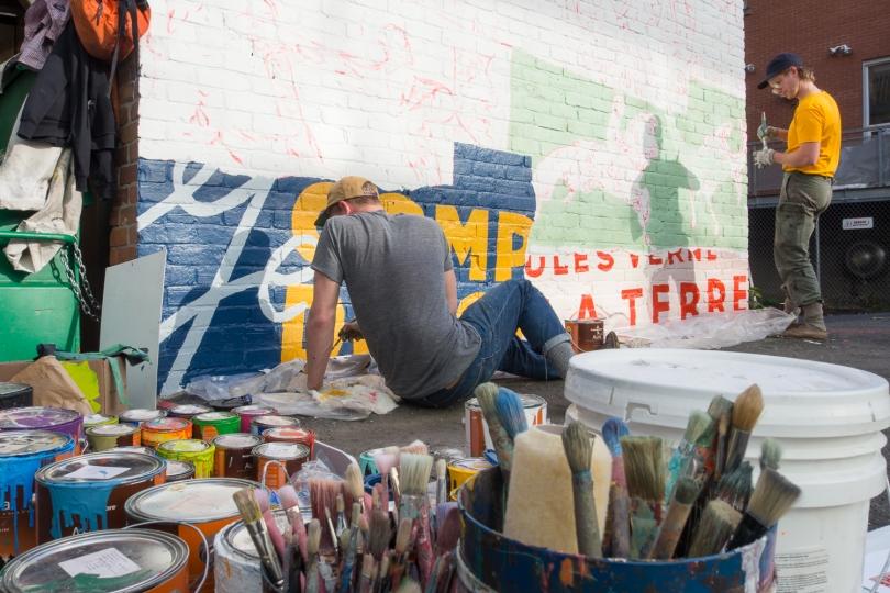MURS à MOTS – 2014 - W. Patrick et A. Sajkowski – «Making of»